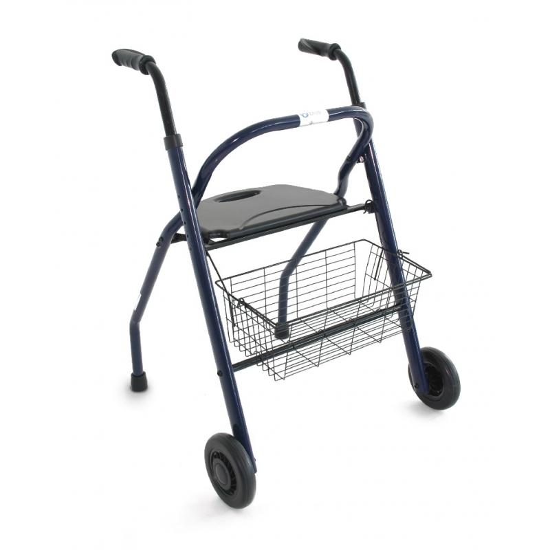 Andador plegable con asiento pack 4 unid cosmo m dica for Sillas para duchar ancianos
