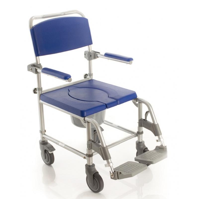 silla de ba o con wc ducha y transporte