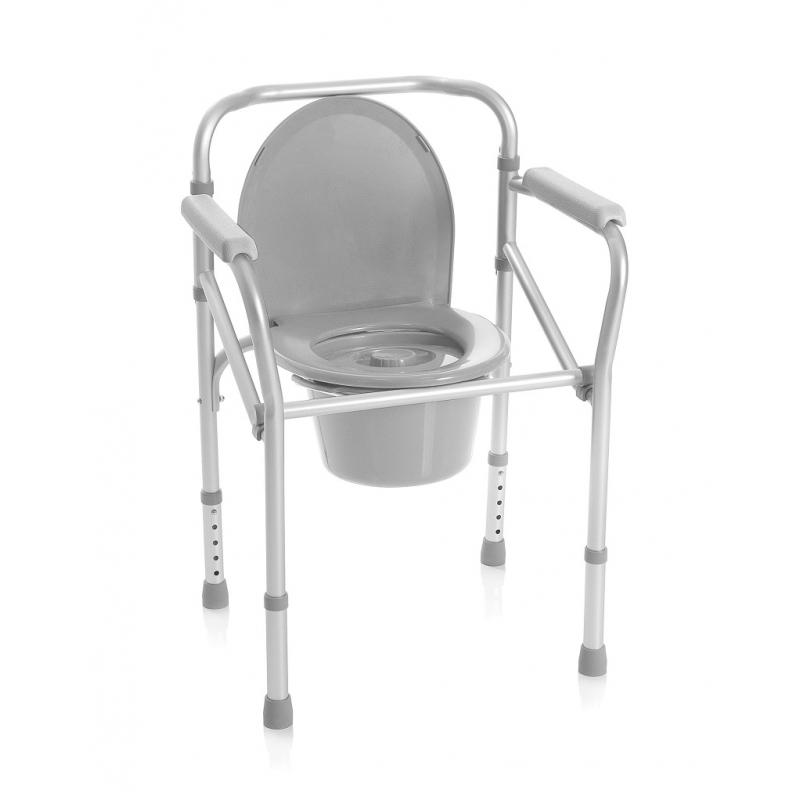 Silla wc ducha pleglable en aluminio cosmo m dica for Sillas para quirofano