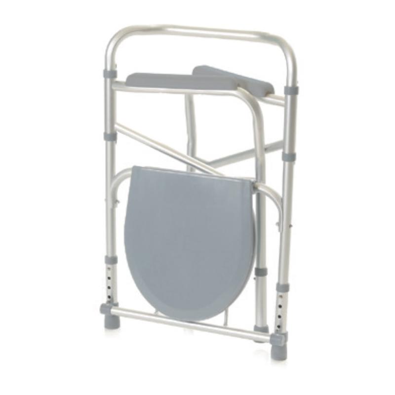 Silla wc ducha pleglable en aluminio cosmo m dica for Silla ducha ortopedia