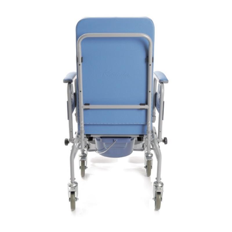 Silla de ruedas en acero con reposapies y asiento for Sillas para quirofano