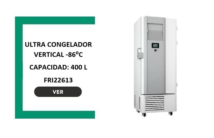 Ultracongelador vertical -86° 400 litros