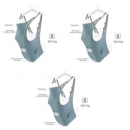 Arnés estándar con reposacabezas hasta 180kg (Pack 3 unid.)