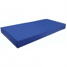 Colchon de bloque de P.U.R de 90x190x13cm con funda sanitaria azul