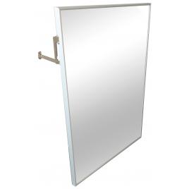 Espejo reclinado con marco en aluminio 70x50 cm