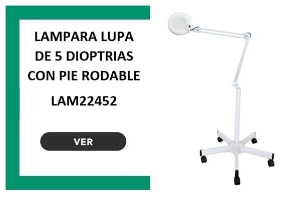 LAMPARA LUPA DE 5 DIOPTRIAS CON PIE RODABLE
