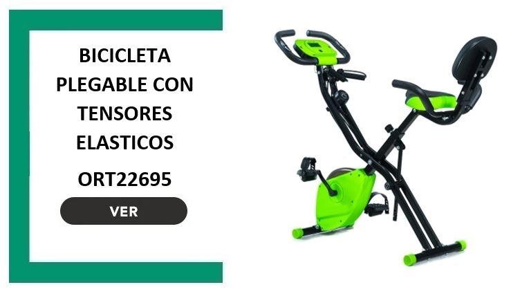 BICICLETA PLEGABLE CON TENSORES ELASTICOS