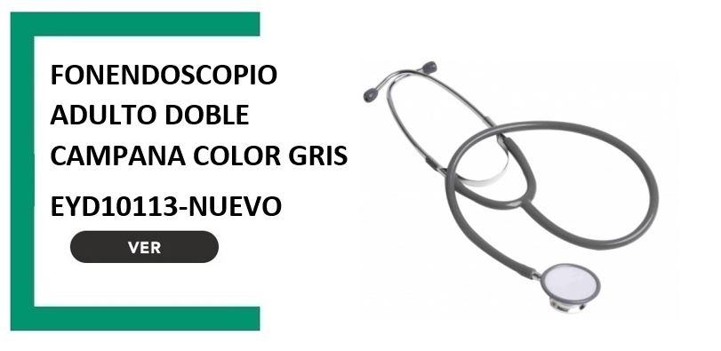 Fonendoscopio adulto doble campana color gris