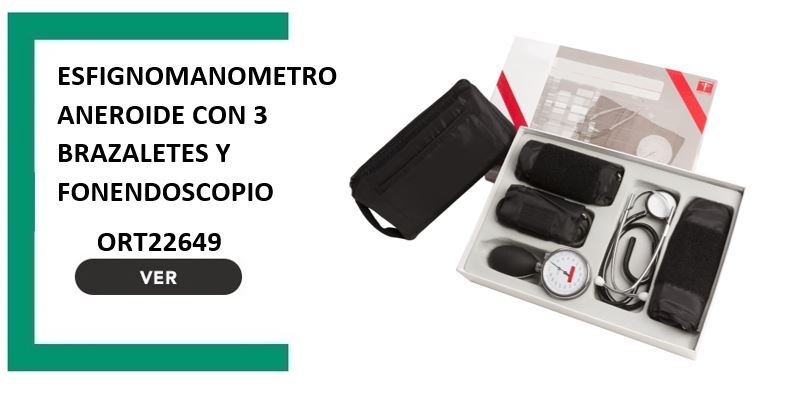 Esfignomanometro aneroide con 3 brazaletes y fonendoscopio