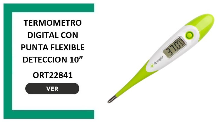 Termometro digital con punta flexible