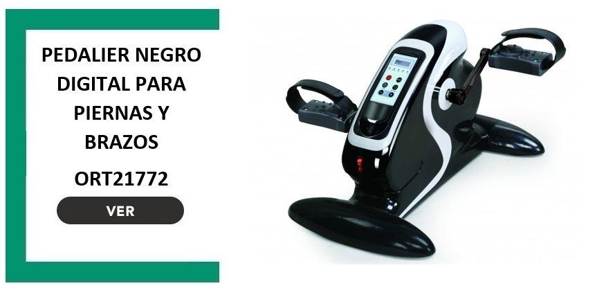 Pedalier negro digital para piernas y brazos